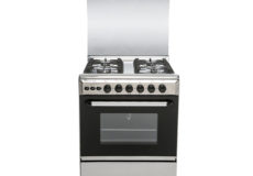 CROWN TECH Oven with 4 Gas Cooker, Silver- CT6060CC