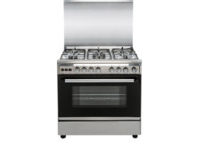 CROWN TECH Oven with 5 Gas Cooker, Silver- CT8060CL