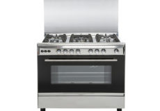CROWN TECH Oven with 5 Gas Cooker, Silver- CT9060CC