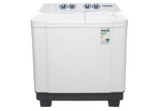 CROWN TECH 15 Kg Semi Automatic Washing Machine, White
